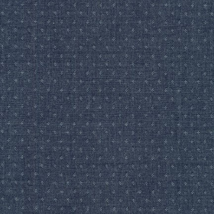 Robert Kaufman Quotes Chambray Navy