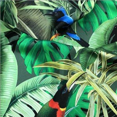 Elliot Berman Tropical Print Italian Silk Max Mara