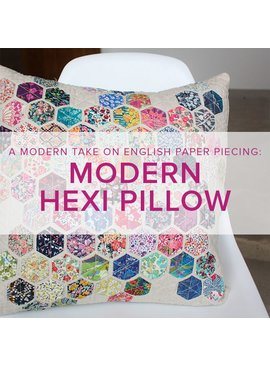 Modern Hexie Pillow, Sundays, December 3 and 10, 2-5 pm