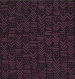 Hoffman Fabrics Hand Dyed Batik Painted Geo Purple