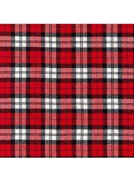 Robert Kaufman Highlander Flannel Red