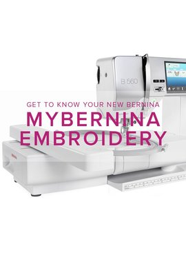 Modern Domestic MyBERNINA: Machine Embroidery, Sunday, November 12, 10:30 - 1 pm