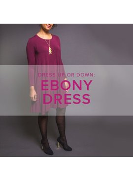 Karin Dejan CLASS IN SESSION Ebony Dress, Wednesdays, January 10 and 17, 6-9 pm