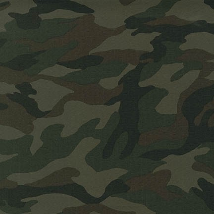 Robert Kaufman Sevenberry Canvas Camouflage 3