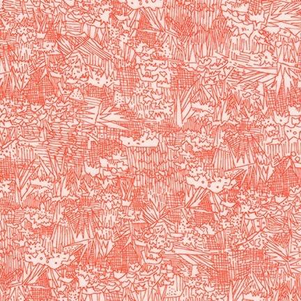 Robert Kaufman Lucinda Rayon Lawn Persimmon by Carolyn Friedlander