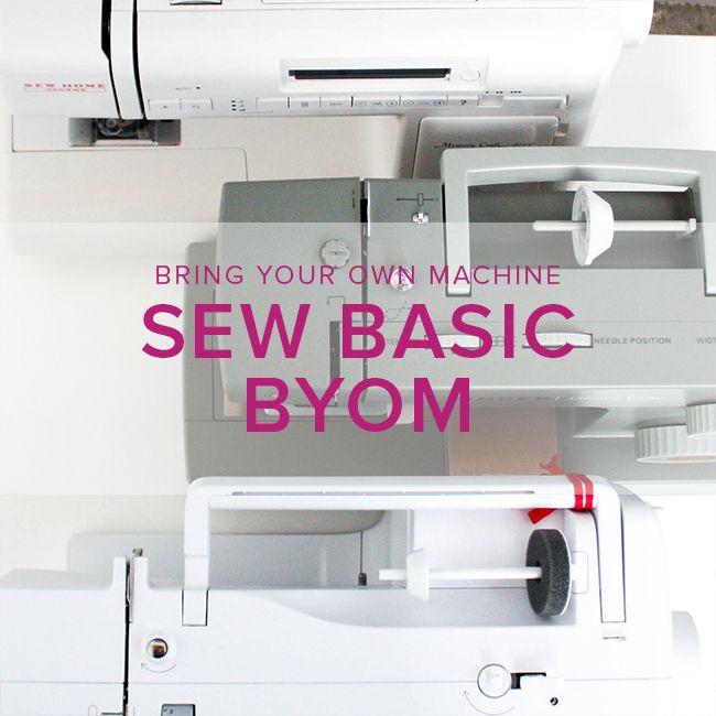 Sew Basic, BYOM (Bring your own machine!) Wednesday, November 15, 6-8:30 pm