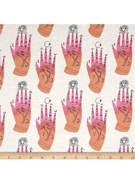 Dear Stella Dear Stella Cotton Shirting Palm Chart White