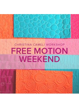 Christina Cameli Free Motion Quilting Weekend with Christina Cameli, Saturday and Sunday, January 27 and 28, 10-1 pm