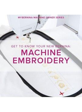 Modern Domestic MyBERNINA: Machine Embroidery Basics, Sunday, January 21, 2-4:30 pm