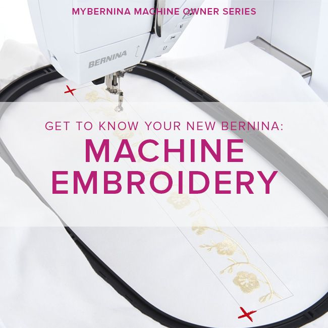 Modern Domestic MyBERNINA: Machine Embroidery Basics, Sunday, January 21, 2-4:30 pm