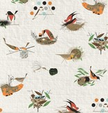 Birch Fabrics Bird Architects by Charlie Harper Main Barkcloth