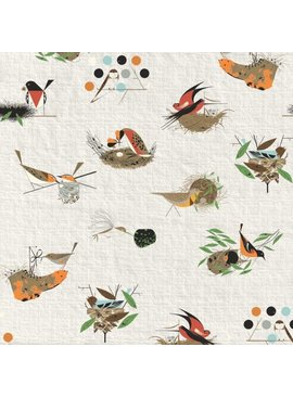 Birch Fabrics Bird Architects by Charlie Harper Main Barkcloth