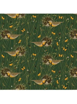 Birch Fabrics Charlie Harper's Bird Architects Eastern Meadowlark Poplin