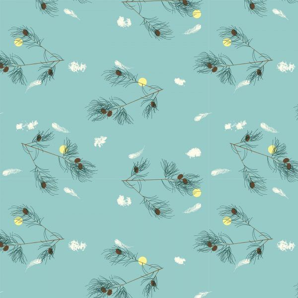 Birch Fabrics Charlie Harper's Bird Architects The Pines in the Sky Poplin