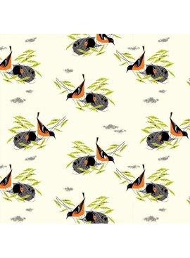 Birch Fabrics Charlie Harper's Bird Architects Baltimore Oriole Poplin