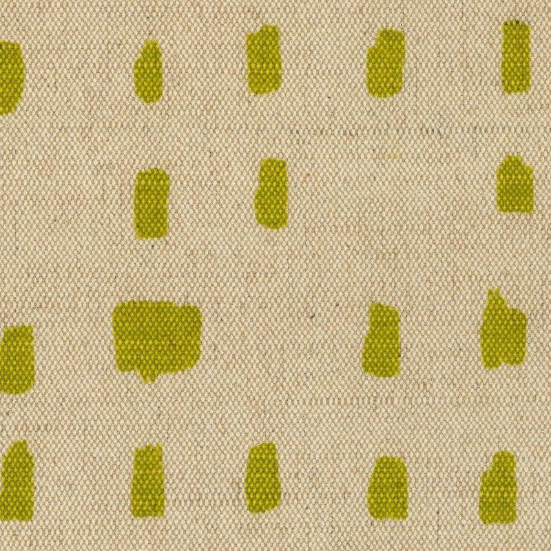 Kokka Cotton/ Linen Textured Canvas Kinari Dot - Chartreuse