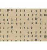 Kokka Cotton/ Linen Textured Canvas Kinari Dot - Charcoal
