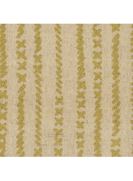 Kokka Cotton/Linen Textured Canvas Kinari Stitches - Gold Metallic