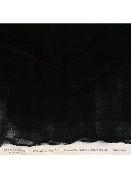 Kokka Nani iRO Beau Yin Yang Sateen - Black