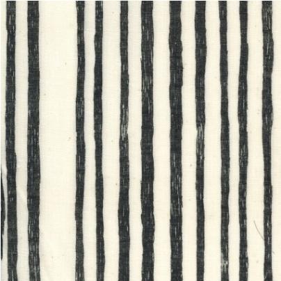 Kokka Nani iRO Saaaa Saaa Noir Cotton Double Gauze - Stripe