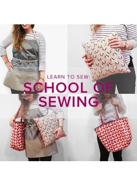 Karin Dejan CLASS IN SESSION Learn to Sew: School of Sewing, Mondays, March 19, 26, and April 2, 6-9 pm