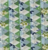 Cotton + Steel Flutter by Melody Miller, Kaleidescope, Green, Unlbeached Cotton