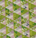 Cotton + Steel Flutter by Melody Miller, Kaleidescope, Citron, Unbleached Cotton