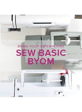 Sew Basic, BYOM (Bring your own machine!) Saturday, February 24, 4:30-7pm