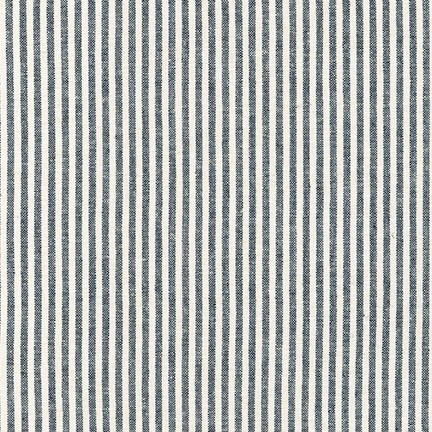 Robert Kaufman Essex Yarn Dyed Classic Wovens Indigo Stripe