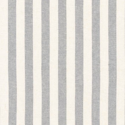 Robert Kaufman Essex Yarn Dyed Classic Wovens Steel Stripe