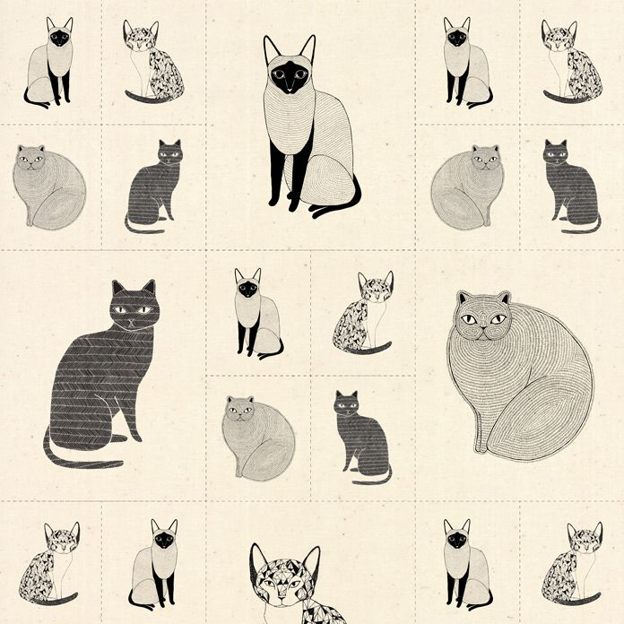 Moda Catnip Cats Galore Panel Natural