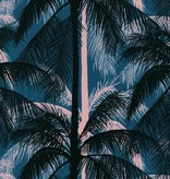 Cotton + Steel Poolside by Cotton + Steel: Palms Canvas Blue
