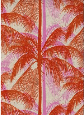Cotton + Steel Poolside by Cotton + Steel: Palms Canvas Pink