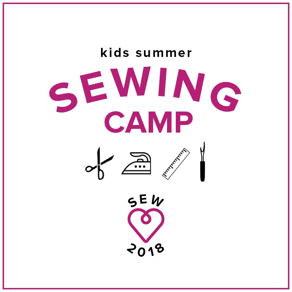 Karin Dejan Kids Sewing Camp: Sew School! Monday - Thursday, June 18-21, 2-5 pm