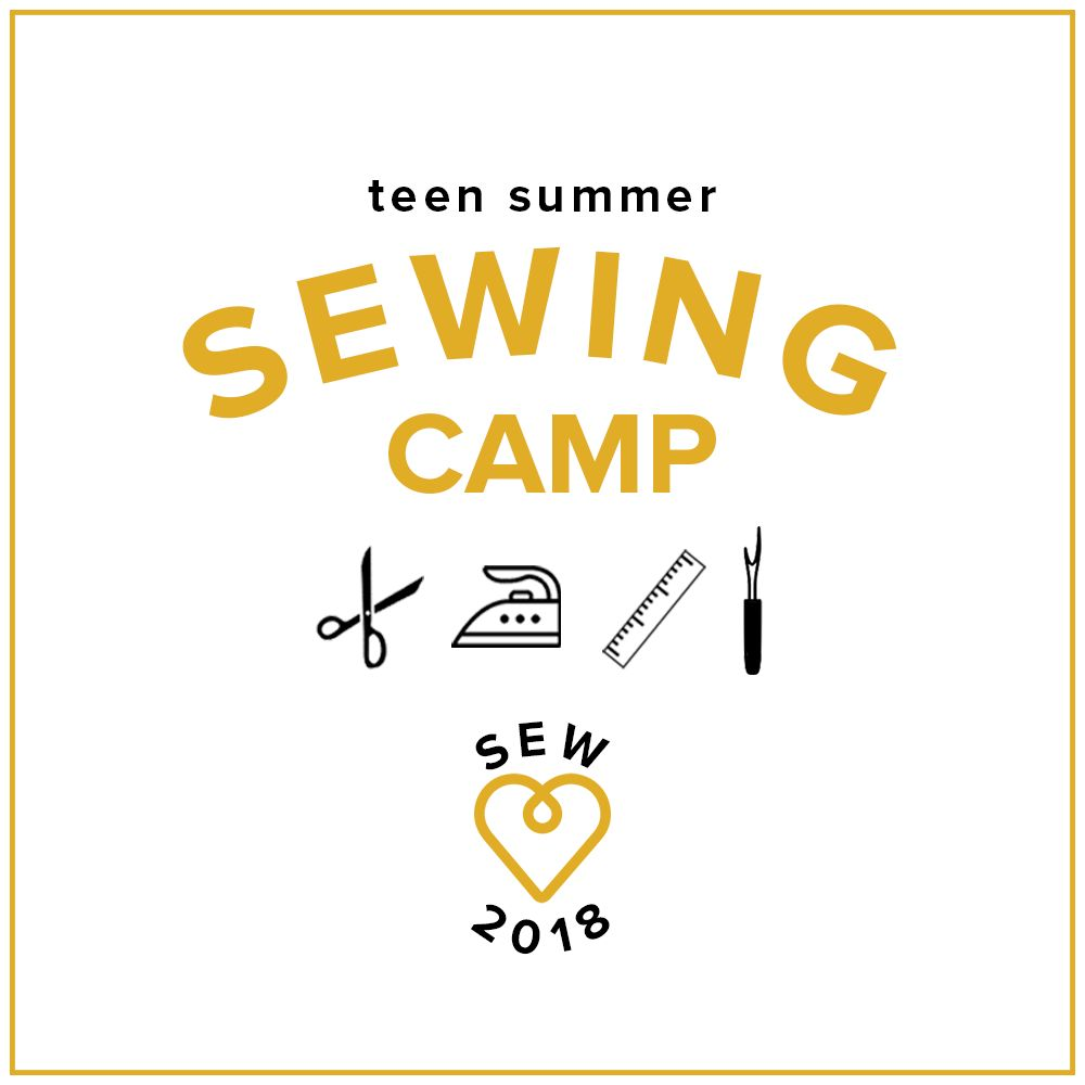 Karin Dejan CAMP FULL Teen Sewing Camp: Sew Your Own Clothes! Monday - Thursday, July 9-12, 2-5 pm