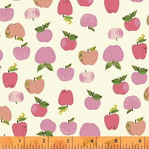 Windham Fabrics Kinder by Heather Ross: Apples Pink
