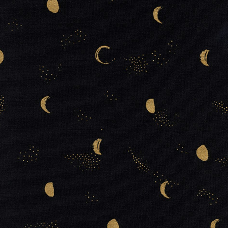 Cotton + Steel Santa Fe by Sarah Watts Moon Phase Night