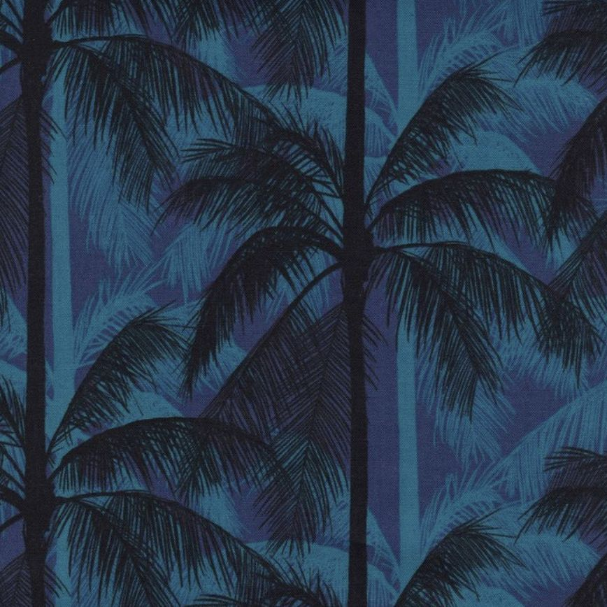 Cotton + Steel Poolside by Cotton + Steel: Palms Blue