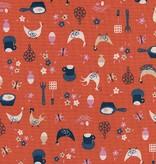 Cotton + Steel Welsummer by Kim Kight Kitchen Kitsch Sweet Orange