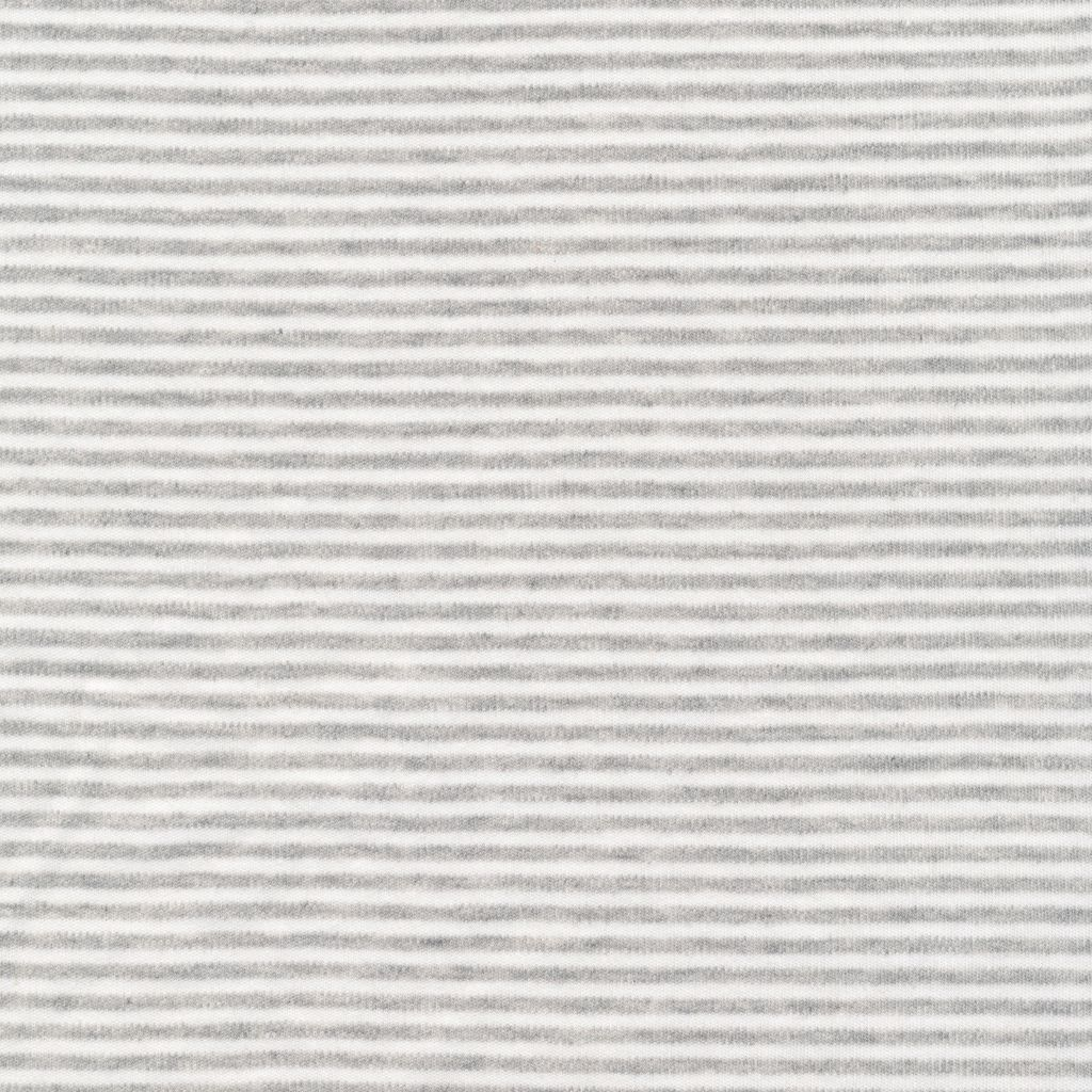 Cloud9 Organic Cotton Knit Thin Stripe - Heather Gray