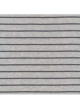 Cloud9 Organic Cotton Knit Stripe - Heather Gray