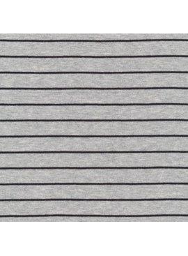 Cloud9 Organic Cotton Knit Stripe - Heather Gray