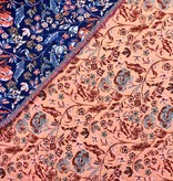 S. Rimmon & Co. Jacquard Neon Floral Tapestry Orange/Blue