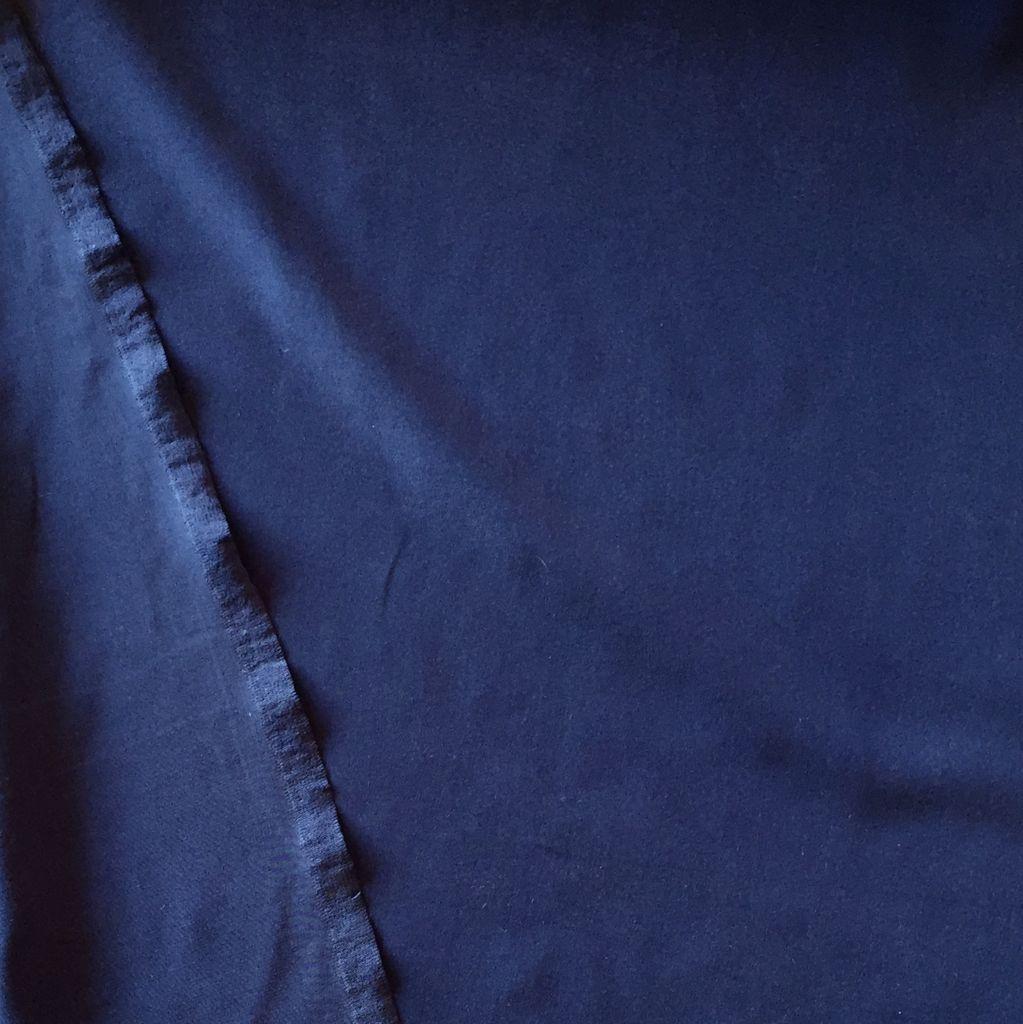 S. Rimmon & Co. Silk Crepe Slate Blue