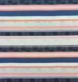 S. Rimmon & Co. Woven Stripe Tapestry Blue/Blush