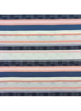 S. Rimmon & Co. Woven Stripe Tapestry Blue/Blush