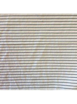 S. Rimmon & Co. Cotton/Linen Pinstripe Cream/Black