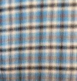 S. Rimmon & Co. Plaid Gauze Blue/Grey