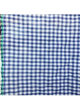 S. Rimmon & Co. Plaid Gauze Blue/White Check
