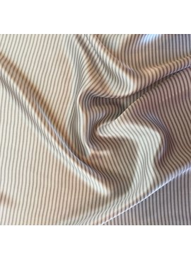 S. Rimmon & Co. Stripe Silk Charmeuse Cream/Grey